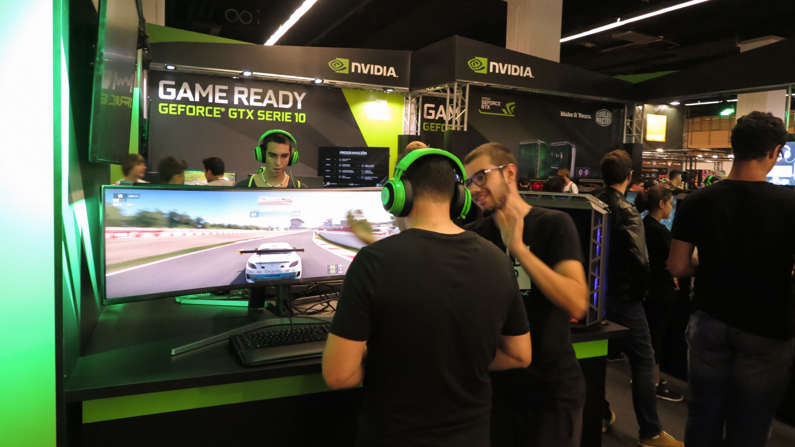 Stand de NVIDIA en Barcelona Games World by Future Works