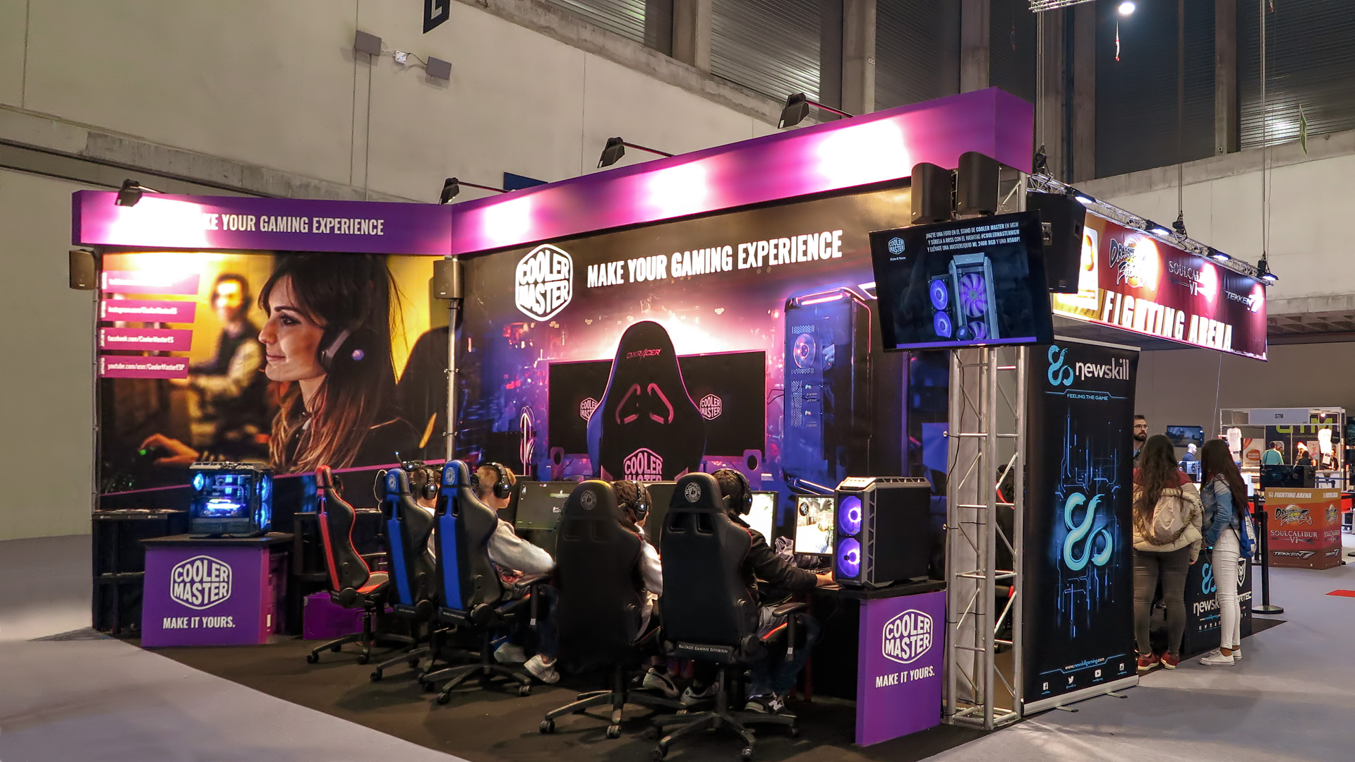 stand cooler master en madrid games week 2018